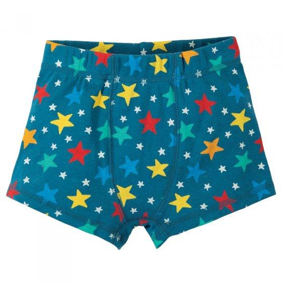 Frugi Multi Star Sean Printed Boxer Shorts