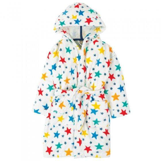 Frugi Multi Star Toasty Towelling Robe