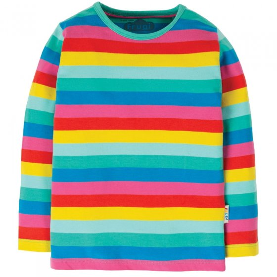 Frugi Multi Stripe Everything LS Top