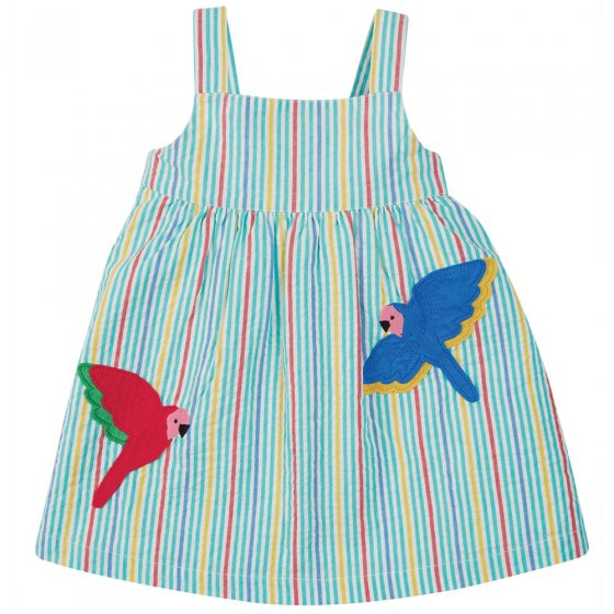 Frugi Multi Stripe Parakeet Alma Summer Dress