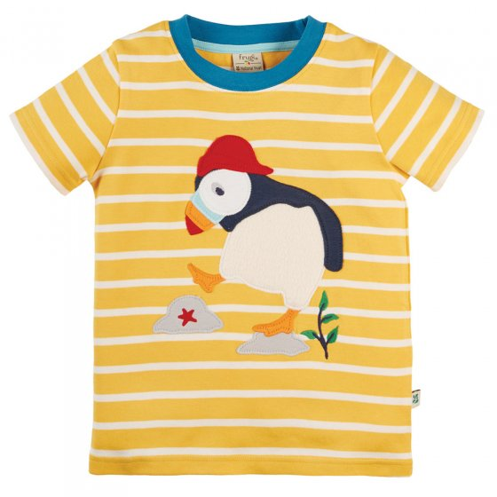 Frugi National Trust Puffin Sid Applique T-Shirt