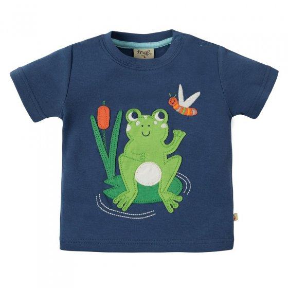 Frugi Frog Little Creature Applique SS Top