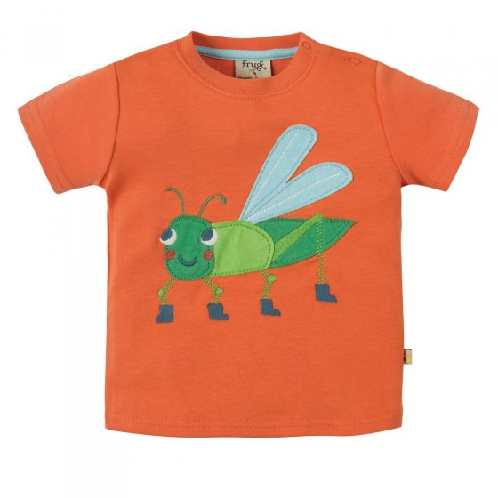 Frugi Grasshopper Little Creature Applique SS Top