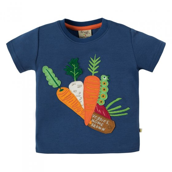 Frugi Little Creature Veg Stall Applique Top