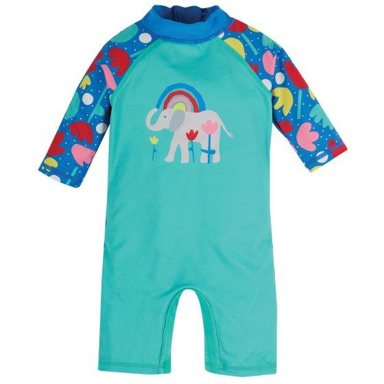 Frugi Pacific Aqua Elephant Little Sun Safe Suit