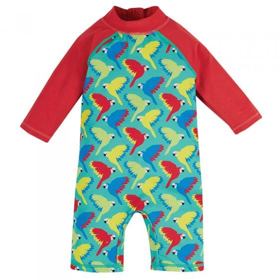 Frugi Pacific Aqua Parrots Little Sun Safe Suit
