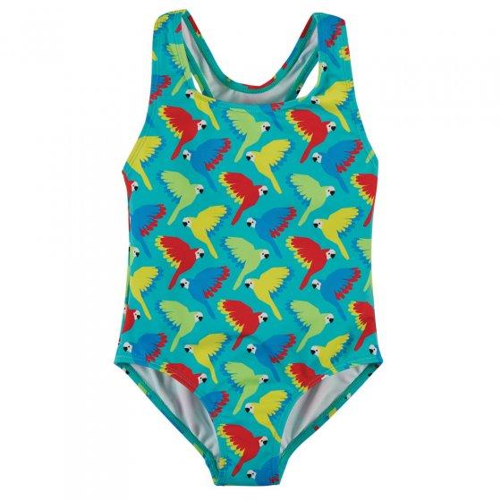 Frugi Pacific Aqua Parrots Seaside Swimsuit