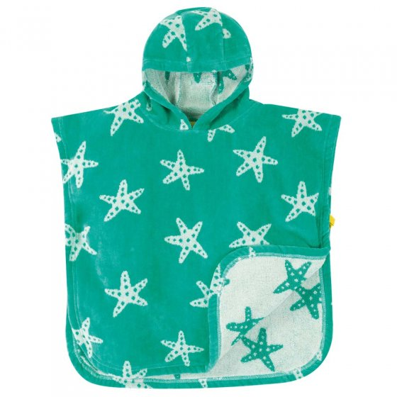 Frugi Pacific Starfish Little Childrens Hooded Towel