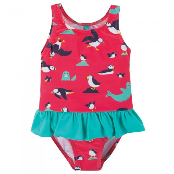 Frugi Puffling Paddle Little Coral Swimsuit