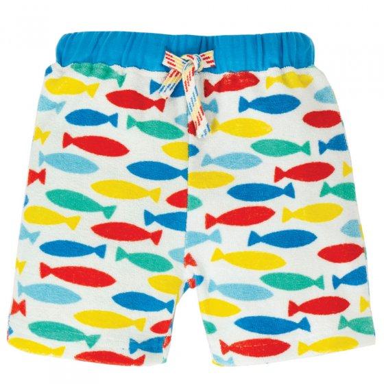 Frugi Rainbow Fish Little Towelling Shorts
