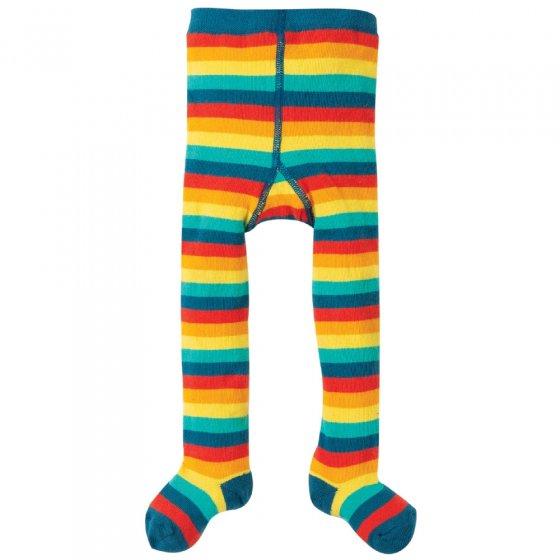 Frugi Rainbow Multi Stripe Tamsyn Tights