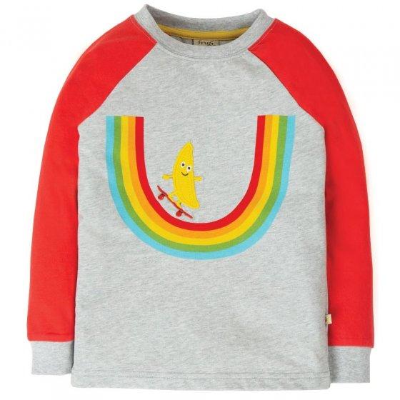Frugi Rainbow Raglan Top