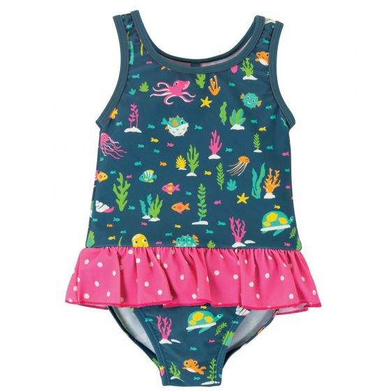 Frugi Rainbow Reef Little Coral Swimsuit