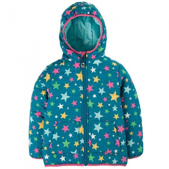 Frugi Rainbow Stars Reversible Toasty Trail Jacket