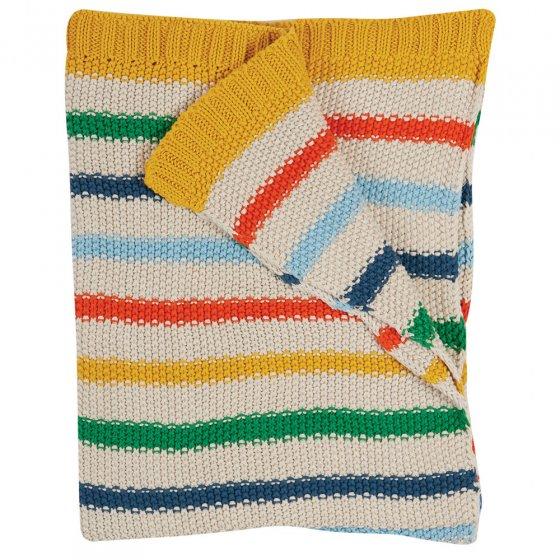 Frugi Rainbow Stripe Cuddle Up Blanket