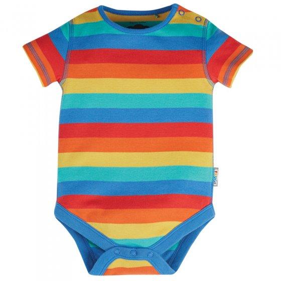 Frugi Rainbow Stripe Everyday Short Sleeve Body