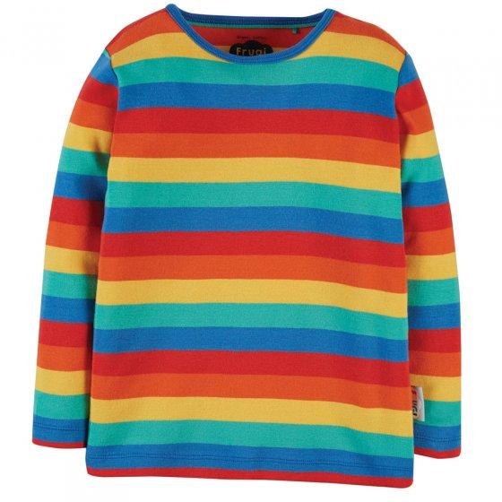 Frugi Rainbow Stripe Favourite Long Sleeve Tee