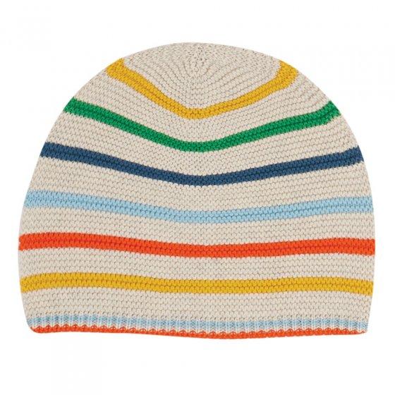 Frugi Rainbow Stripe Harlen Knitted Hat