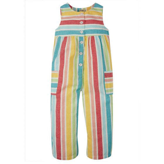 Frugi Rainbow Stripe Julia Dungaree