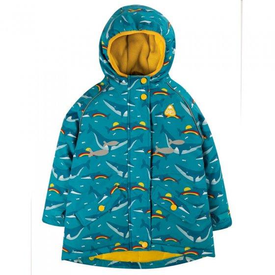 Frugi Rainbow Whales Explorer Waterproof Coat