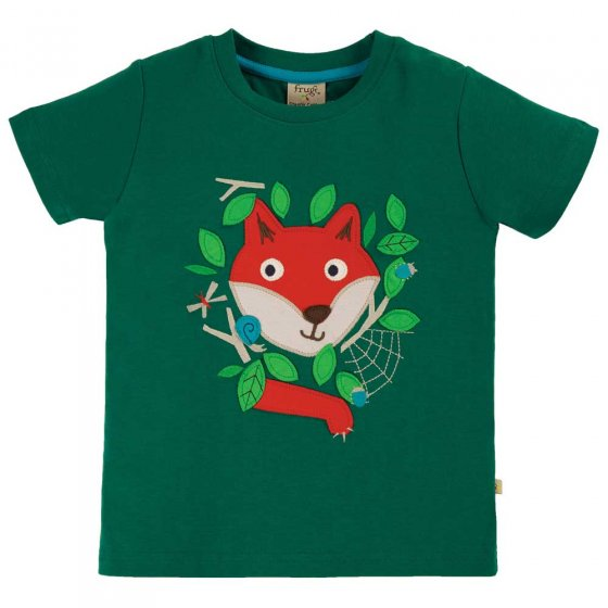 Frugi Scots Pine Fox James Applique T-Shirt
