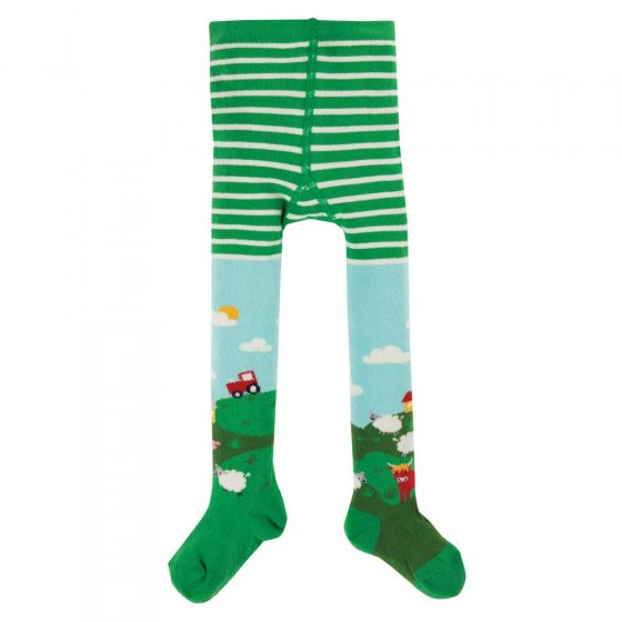 Frugi Scots Pine Scene Little Norah Tights