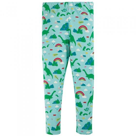 Frugi Shore Blue Nessie Libby Printer Leggings