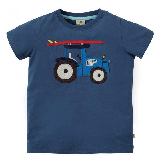 Frugi Stanley Applique Tractor T-Shirt
