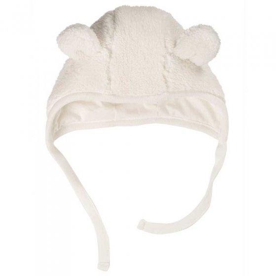Frugi Soft White Baa Baa Bonnet