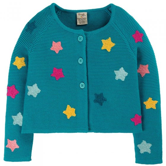 Frugi Stars Emilia Embroidered Cardigan
