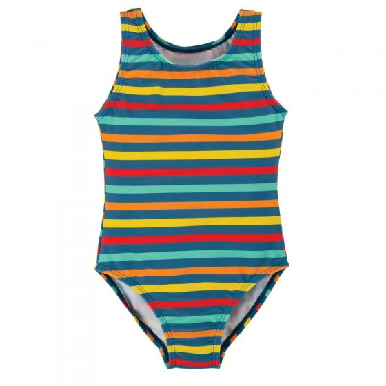 Frugi Swim Stripe Little Sally Swimsuit