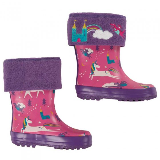 Frugi Thistle Dragon Warm Up Welly Liner