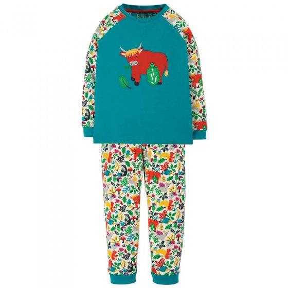 Frugi Tobemory Teal Highland Cow Ace Pyjamas