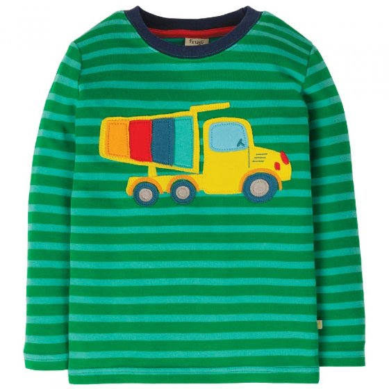 Frugi Truck Discovery Applique Top