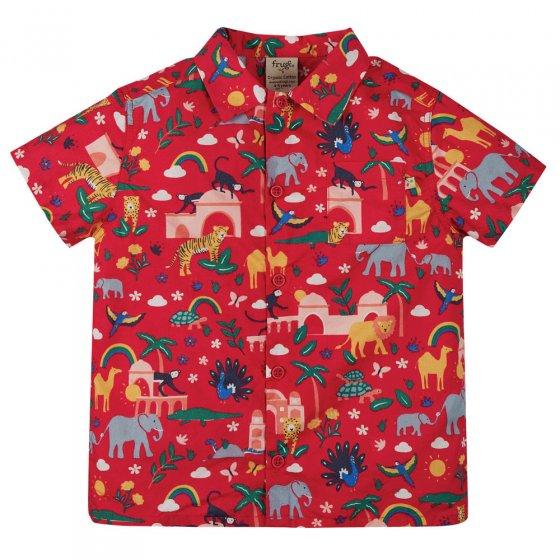Frugi True Red India Harvey Hawaiian Shirt