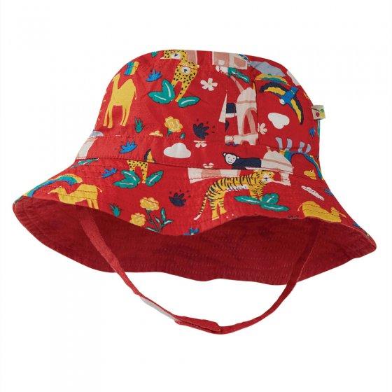 Frugi True Red India Little Dexter Reversible Hat