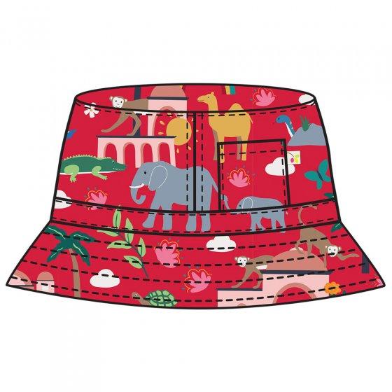 Frugi True Red India Ravi Reversible Hat