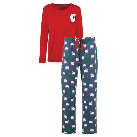 Frugi Women's Festive Sheep Eve Pyjamas