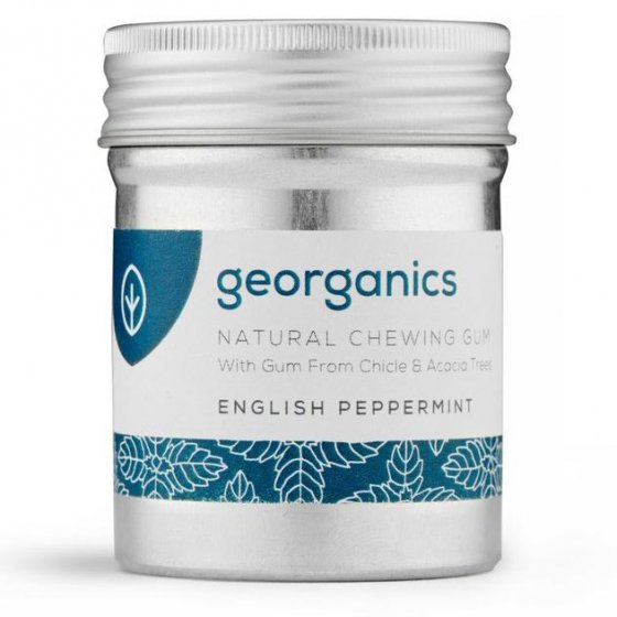 Georganics English Peppermint Chewing Gum - 30 Pieces