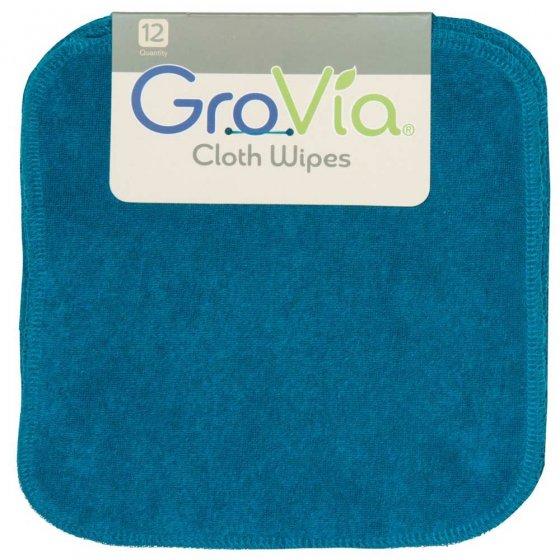 12 GroVia Cloth Wipes - Abalone