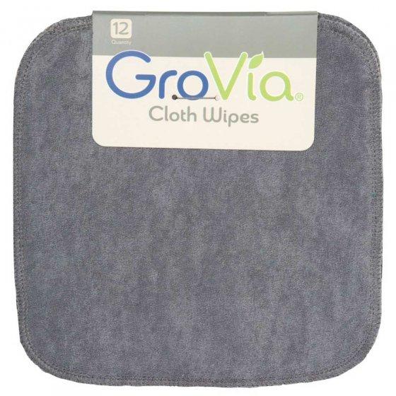 12 GroVia Cloth Wipes - Cloud