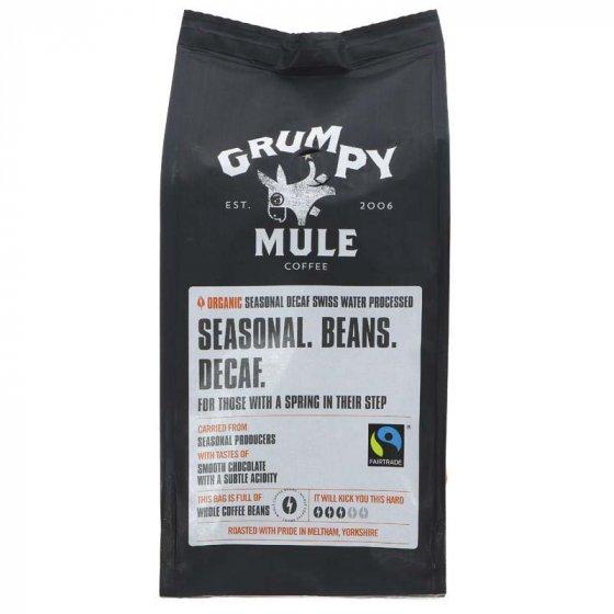 Grumpy Mule Organic Decaffeinated Coffee Beans 227g