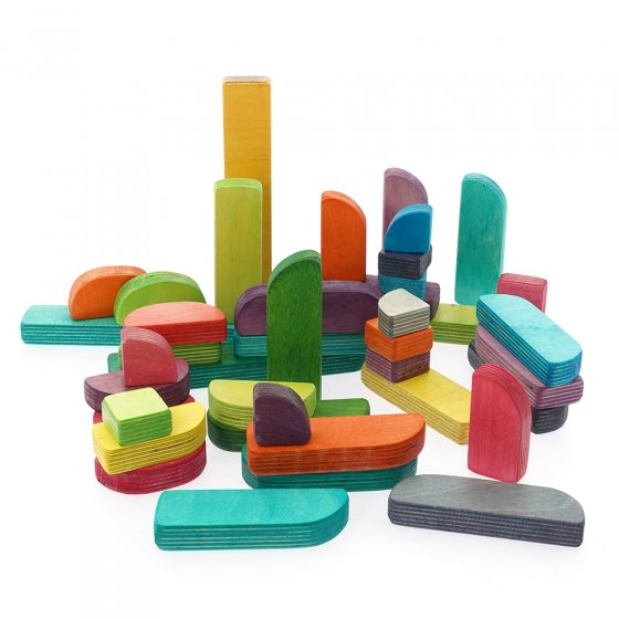 Hellion Toys handcrafted plastic-free Hello typeblocks first words pack laid out on a white background