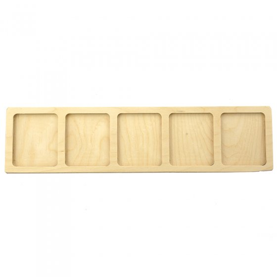 Hellion Toys handcrafted plastic-free 5 cube tray on a white background