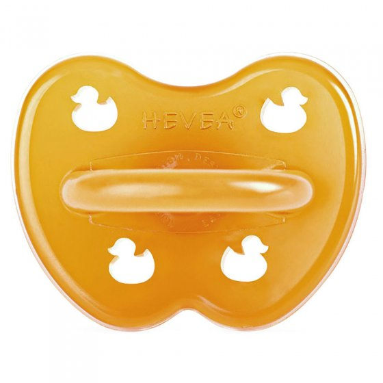 Hevea Soother Symmetrical Duck 3+ months