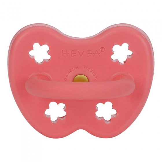 Hevea Orthodontic Coral Pacifier 3-36 Months