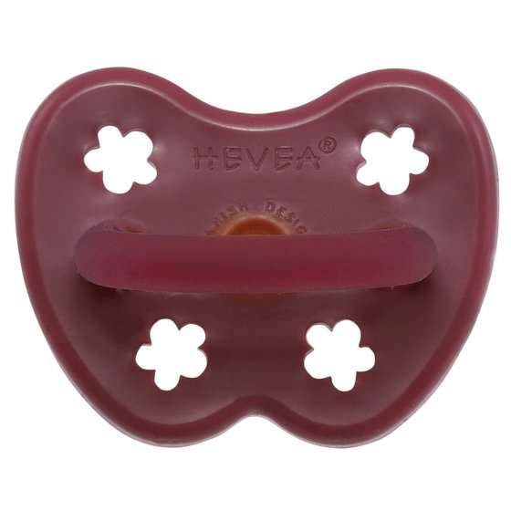 Hevea Ruby Red Orthodontic Pacifier - 3 - 36 months