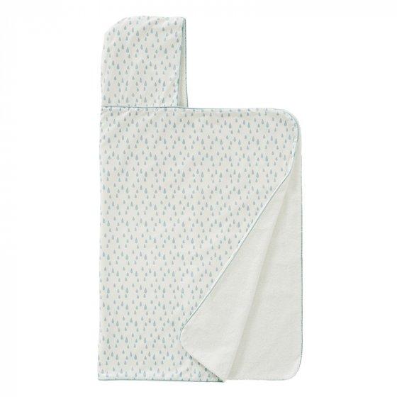 Fresk Hooded Towel Drops Ether Blue