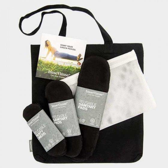 Imse Vimse Cloth Pad Starter Kit - ImseVimse Black