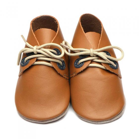 Inch Blue Derby Caramel Navy Shoes